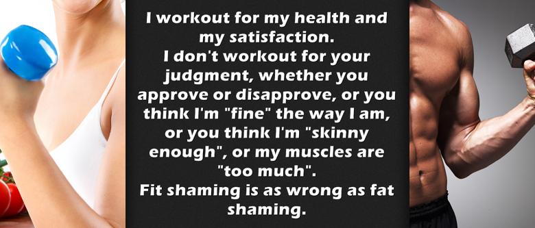 fit shaming and skinny shaming
